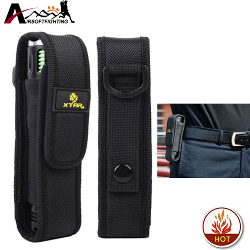 XTAR T220 Flashlight Pouch/Flashlight Holster Case hunting accessories Portable Durable Outdoor for Fenix XTAR TZ20 Lenser A mini kompas sleutelhanger