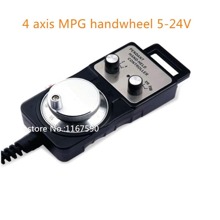 4 axis Pendant Handwheel 5 24V 5V 12V 24V manual pulse generator MPG for Siemens, MITSUBISHI, FANUC