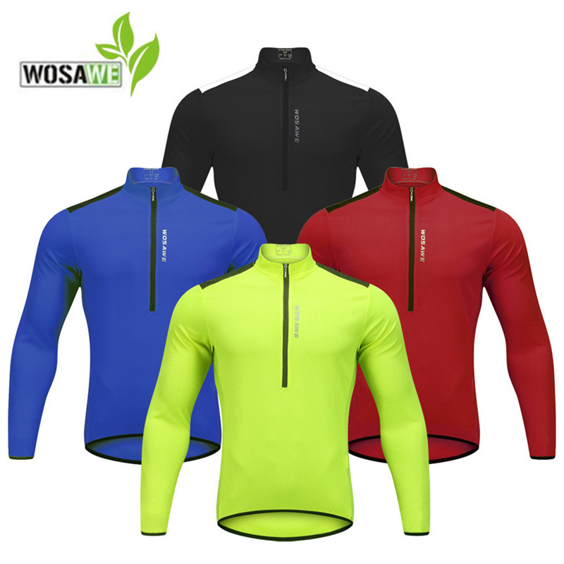 WOSAWE cycling jerseys solid men women long sleeve team maillot MTB downhill bicycle clothing riding shirts tight bike jersey