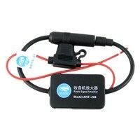 Car Automobile Radio Signal Amplifier ANT 208 Auto FM AM Antenna Booster 12V