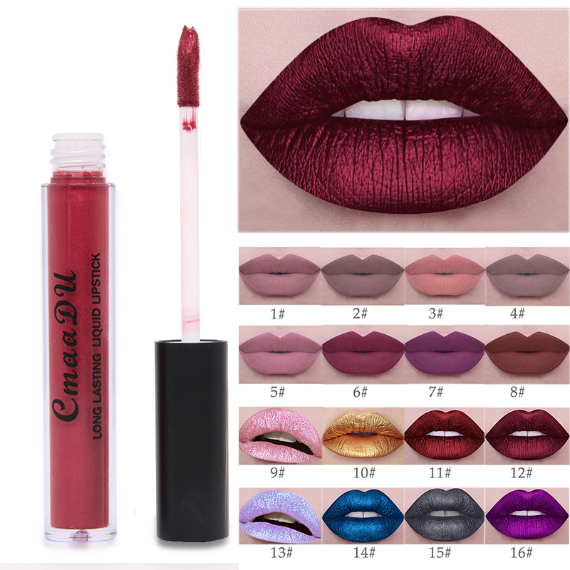 Lip Brand Matte Liquid Lipstick Nude Metallic Matte Lipstick Waterproof Lip Gloss Makeup Lipstick Liquid Matte Cosmetics