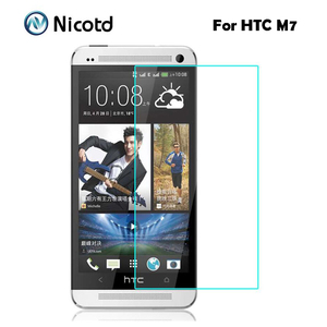 Image 3 - Nicotd 9H מסך מגן מזג זכוכית עבור HTC Desire 510 610 626 עבור HTC אחד M7 M8 M9 M10 e8 X9 A9 E9 בתוספת מגן סרט