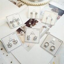 Korea Handmade Star Bow knot Rhinestone Women Drop Earrings Dangle Earrings Fashion Jewelry Accessories Holiday-JQD5 все цены