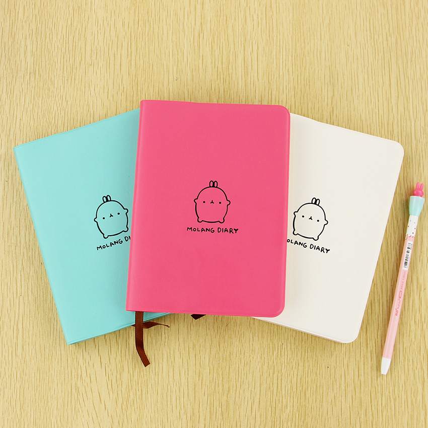 1PC Office Stationery Planner Agenda Scheduler Memo Notebook Cute Molang Rabbit Calendar Notepad for Child Gift calendar 2017 a5 calendar handbook of efficiency for industry and commerce business notepad log can be customized logo