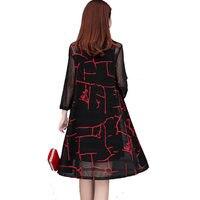 Spring Summer Beach Kimono Cardigan Women Casual Print Ladies Tops Plus Size Cardigan Elegant Black Blouse Femme Clothes Q1309