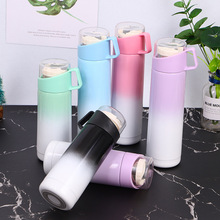 YIBO 1Pc Creative Thermos Cup Multi-Layer Insulation Thick Silicone Bottom Non-Slip Home Water Outdoor Sports