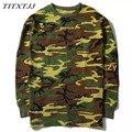 Longo-sleeved Camisetas Hoodies Das Mulheres Dos Homens TEMPORADA 2 Kanye West yeezy YEEZUS Hiphop Camuflagem Casuais Camisolas Camisetas MCT026