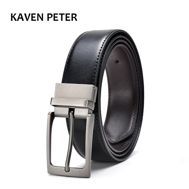 Men Reversible Buckle   Belts   Mens Leather Handmade   Belt   Hot Fashion Cowhide Leather Men   Belt   Black Dark Brown Color