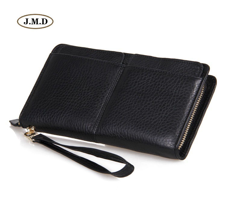 J.M.D Genuine Leather Long Purse Unique Design Wallet  Men's New Style Business Card Holder Money Holder Clutch Bag 8069A