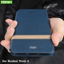 Чехол книжка MOFi для Xiaomi Redmi Note 6 Pro, чехол для Redmi Note6 Pro, чехол из ТПУ для Xiomi Mi Global, силиконовый чехол, чехол книжка