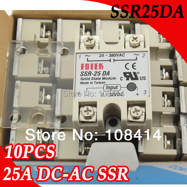 10PCS/Lot BIG PRICE for 25A ssr FOTEK Solid State Relay with Protective Flag Cover normally open single phase solid state relay ssr mgr 1 d48120 120a control dc ac 24 480v