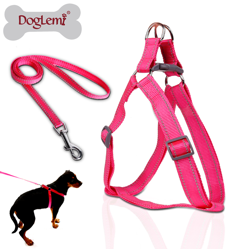 Reflecting Nylon Lare Pet Dog Step In Harness Safety Nylon