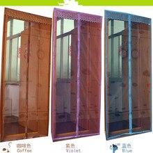 Lifeng casa 2017 nuevo Anti Mosquito Magia Puerta Cortinas de Verano pantalla de Malla de impresión de Loto Magia puerta curtaion Bug mesh gasa Net