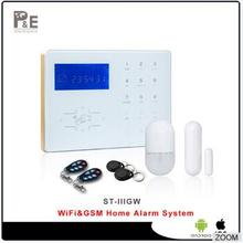 Voice Prompt Wifi smart alarm GSM Home Automation Burglar Alarm Wifi  Alarm System Using Wi-Fi with webIe and App control