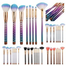 8Pcs Makeup Brushes Set Nylon Foundation Powder Face Eye Blush Blending Honeycomb Rose Gold Color Metal Cosmetic Make Up Tools цена