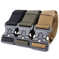 New Style Tactical Gear Heavy Duty Belt Nylon Metal Buckle Patrol Waist Belt 3 8cm Wide