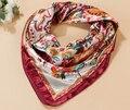 Lenços de cabeça 90x90 cm poliéster Lenços De Seda xales e lenços de moda senhora imitado de cetim de seda da marca lenço quadrado hijab estilo