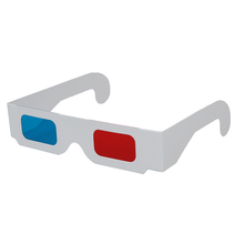 HOT-10 Pairs of Red/Cyan Cardboard 3D Glasses