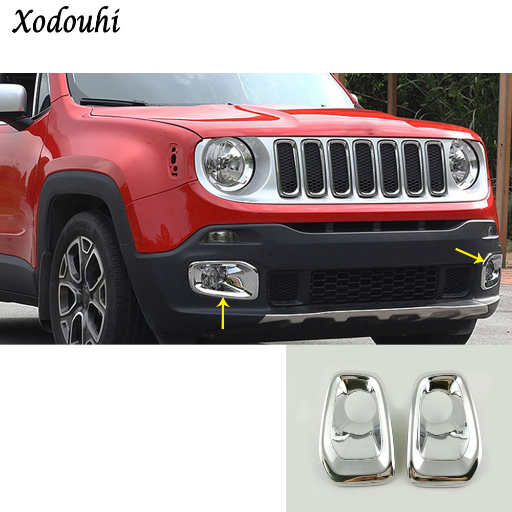 For Jeep Renegade 2016 2017 2018 car styling body front fog light font b lamp b