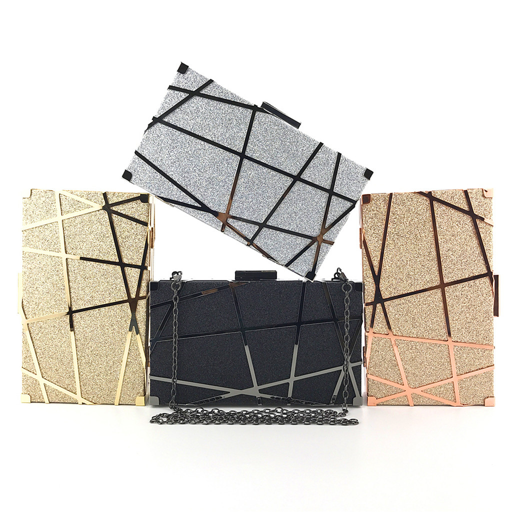 Crossbody Bag Fashion Transparent Shoulder Crossbody Bags Women Solid Color Evening Bag Hand Grab Chain Bag Clutch Bags#518