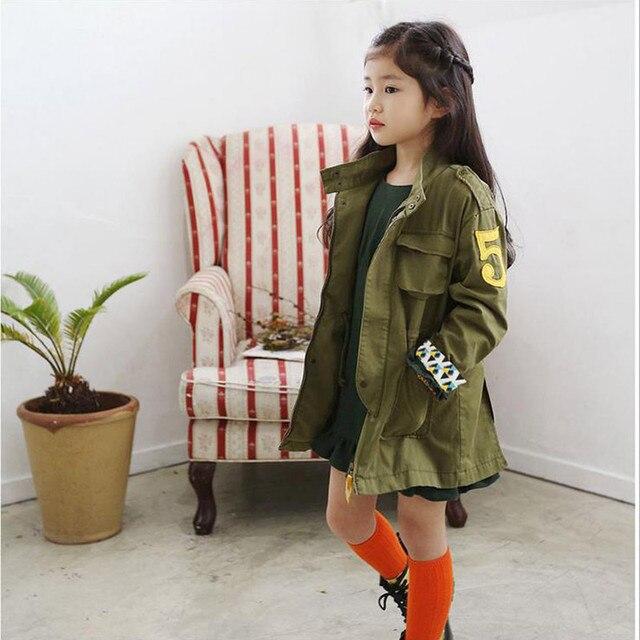 Girls Coat New 2015 Fashion Wind-Proof Outerwear & Coats Girls Jacket Brand Solid Kids Jacket Hooded Girls Springr Jacket 5-8Y