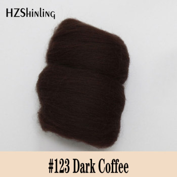 5 g Super Soft felting Short Fiber Wool Perfect in Needle Felt and Wet Felt Dark offee Wool Material DIY Handmade image
