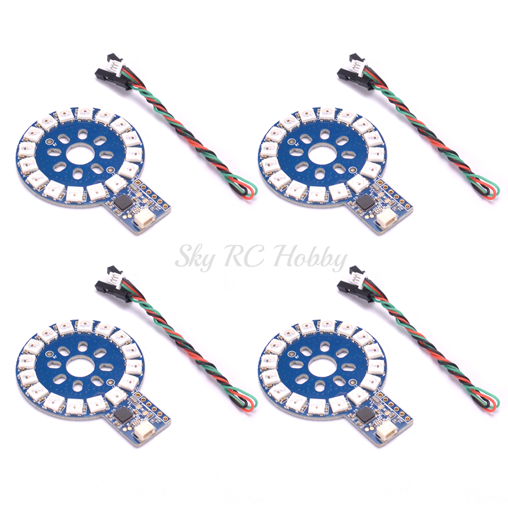 Toys & Hobbies Rgb Round Light Leds Motor Led Ws2812 Module Programmable Ring Tfpixel Circle For Rc Fpv Racing Drone Quadcopter Multicopter