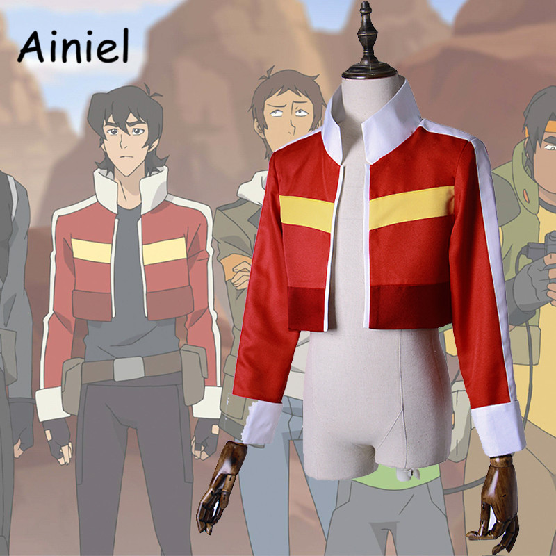 Anime Voltron:Legendary Defender Keith Cosplay Costume Red Long Sleeve Jacket for Women Men Halloween Top Coat Outfit  Suit
