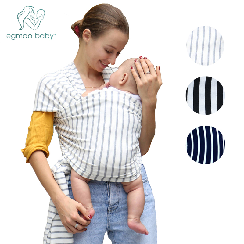 Carrier Baby-Sling Stretchy-Wrap Kangaroo Adjustable Cotton Comfortable Infant Stripe