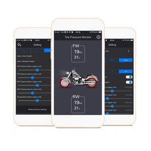 Image 5 - טלפון נייד APP זיהוי אופנוע Bluetooth מערכת ניטור לחץ TPMS צ דוויק TP200 חדש 2 חיצוני חיישני מנוע