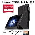 Para Lenovo YOGA LIVRO casos coldre 10.1 polegada YOGA LIVRO Stand caso laptop pacote de apoio conjunto de casaco Dobrar Tampa Inteligente Fino