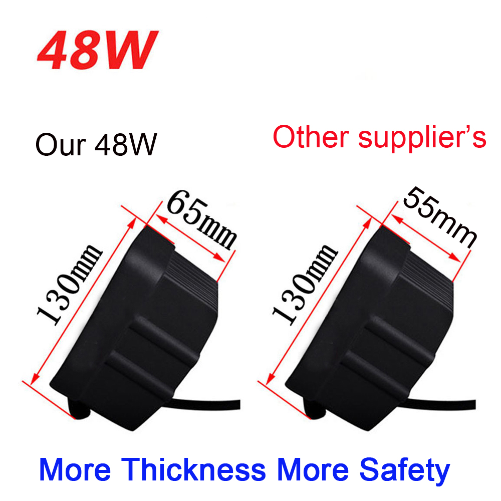 ECAHAYAKU 2pcs 4 INCH 48W LED WORK light 12V 4X4 tractor TRUCK 24V MOTORCYCLE ATV offroad fog lamp 48W LED Working DRIVING bulbs in Light Bar Work Light from Automobiles Motorcycles
