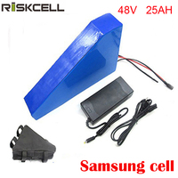 48v 750w 1000W triangle e bike battery 48v 25ah lithium ion battery pack fit 48v bafang 8fun bbs02 motor kit
