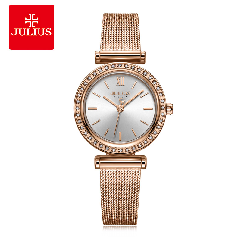Julius Watch Womens Business Watch RoseGold Simple Design Zircon Diamond Ladies Top Quality Gift Watch Dropshipping JA-1141Julius Watch Womens Business Watch RoseGold Simple Design Zircon Diamond Ladies Top Quality Gift Watch Dropshipping JA-1141