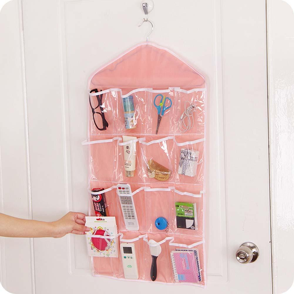 16 Pocket Over Door Hanging Bag Shoe Rack Hanger Storage Tidy Organizer  Pink Closet Shelves Diy Closet Organizer ANG In Storage Bags From Home U0026  Garden On ...