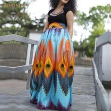 BOHISEN African Print Women Skirts Fashion Bazin Dashiki Skirts African Dresses For Women Femme Clothes