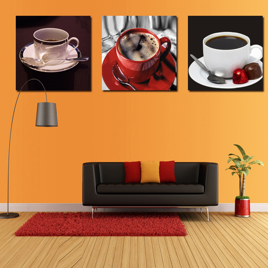 3 Pieces Set Coffee Kitchen Wall Art Painting Home Decor Canvas Paintings Cuadros Hd
