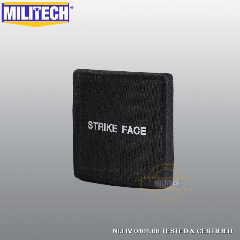 MILITECH 6'' X 6'' 1 PC NIJ IV Bulletproof Side Armor Plate 6 By 6 Aluminum Oxide & PE NIJ IV Stand Alone Ballistic ESAPI Panel