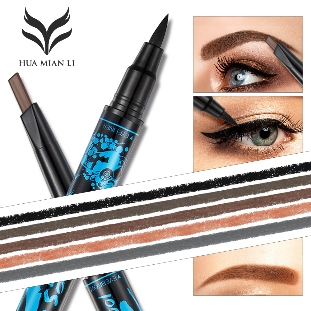 HUAMIANLI 1pc Double end Eyebrow Pencil Liquid font b Eye b font font b Liner b