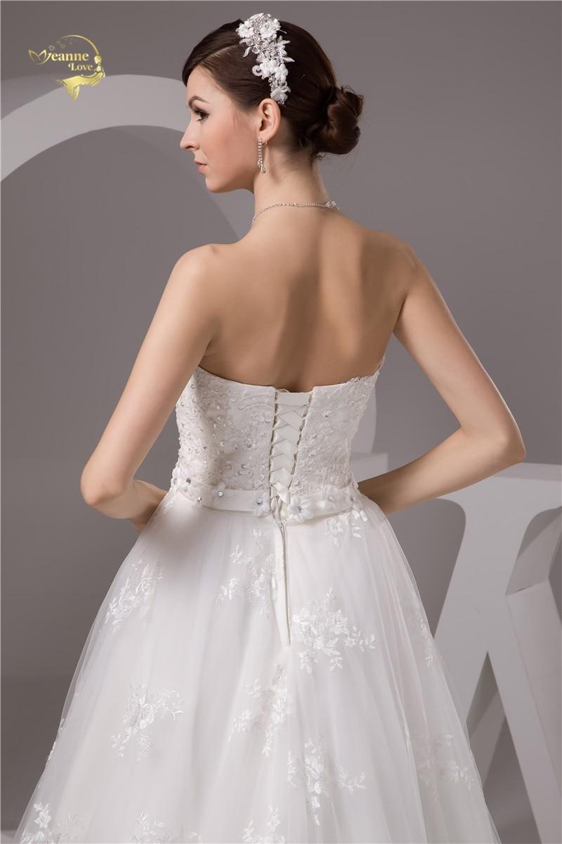 2016 White / Ivory de lux Vestido De Noiva Robe De Mariage Mireasa A - Rochii de mireasa - Fotografie 6