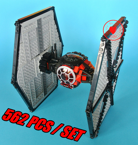 Space Star Wars First Order Special Forces Model Building block kit TIE Fighter Bricks Toys Compatible With lego kid gift set car front bumper mesh grille around trim racing grills 2013 2016 for ford ecosport quality stainless steel