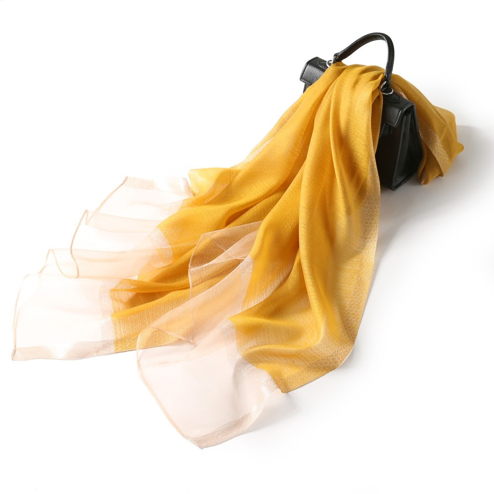 Women Real Silk Acrylic Scarf 75 195cm Femme Large Kerchief Head Neck Long Scarves For Ladies Shawls Summer Spring Autumn in Women 39 s Scarves from Apparel Accessories