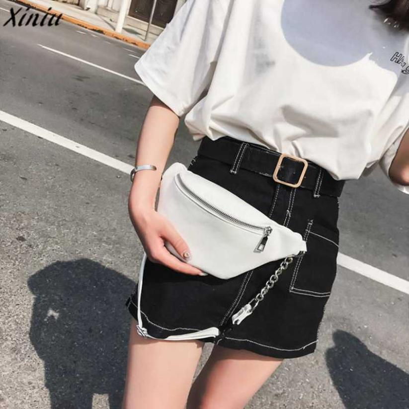 4422618b0f Xiniu Famous Brand Waist Bags For Women Fashion Chain PU Leather Messenger  Bag Lady Pouch Belt