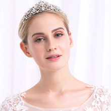 Miallo Pearl Jewelry For Woman Wedding Bride Tiara Rhinestone Crystal Crown Silver Gold Hair Accessories Princess Queen Pageant