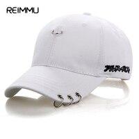 Reimmu Fashion Brand Snapback Caps Male Adjustable Size Hip Hop Hat Cap Unisex Men Women White