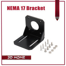 1 ADET 3D Pinter Parçaları NEMA 17 Alaşım Çelik Montaj Vidalar ile Stepping L Braketi Dağı Adım 42 Step Motor siyah