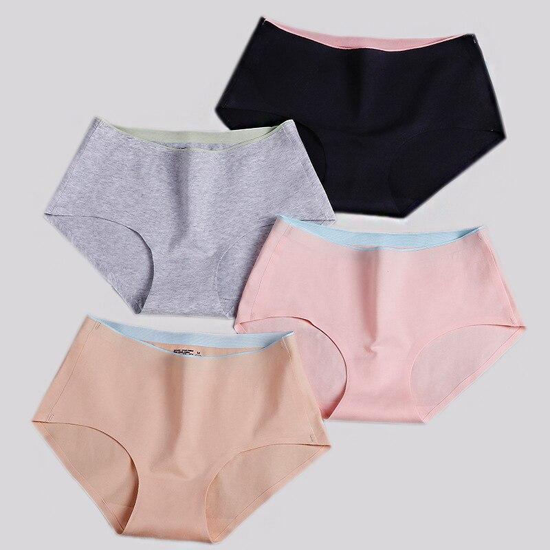 3Pcs/Lot Seamless   Panties   Tanga Briefs Women Sexy Lingerie Female Cotton Underwear Women High Waist Thong WP002