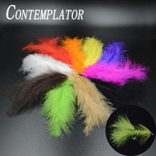 20pcs/pack marabou turkey feathers woolly bugger nymph fly tying materials 10optional colors large streamer fishing feather