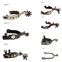1 Pair Horse Western Spurs riding racing Equipment Equestrian Rider paardensport cheval Hand carved flower A $