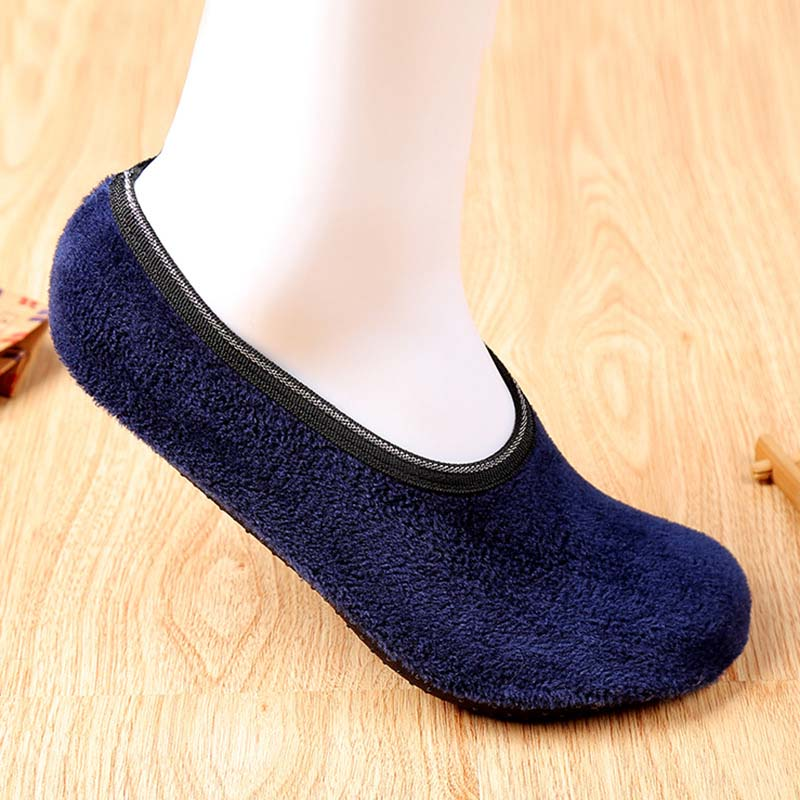 1Pair Winter Socks Men Black Gray Floor Socks Winter Autumn Men Socks Thicker Warm Shoes Socks